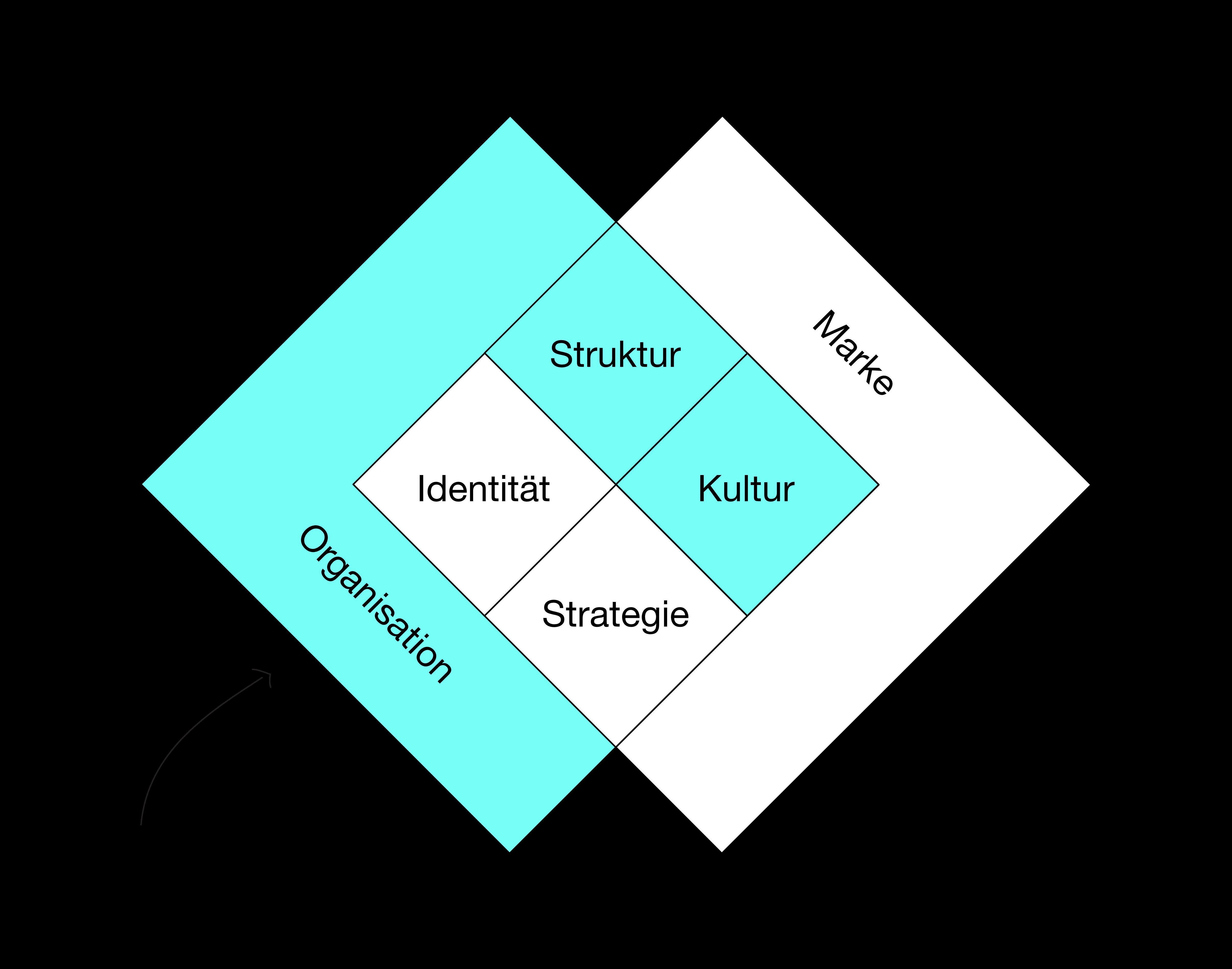 Organisationsberatung Modell schwarz