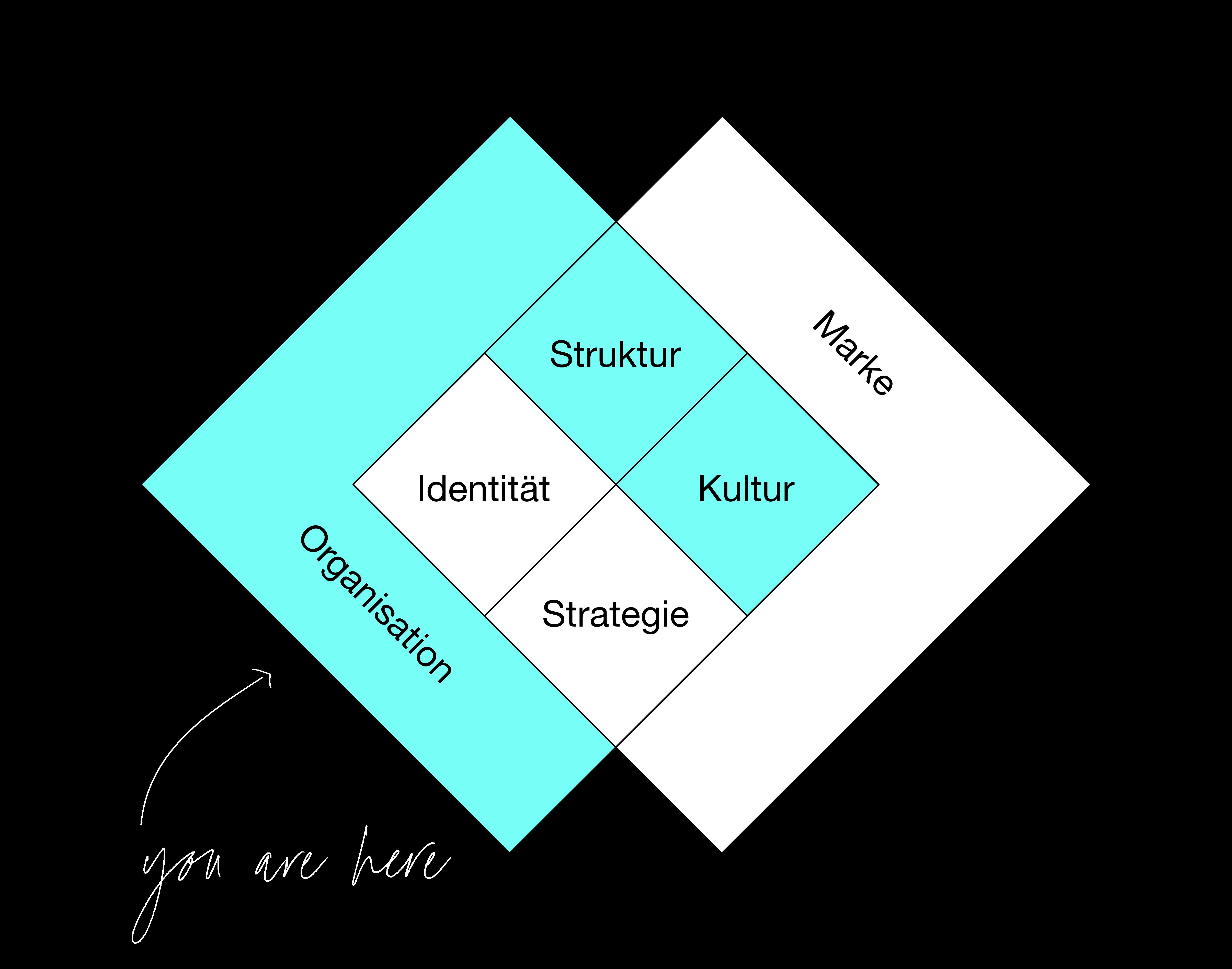 Organisationsberatung Modell weiß